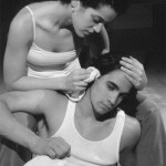 Sixto Rosado with Shirley Rumierk in his play THE CATCH.